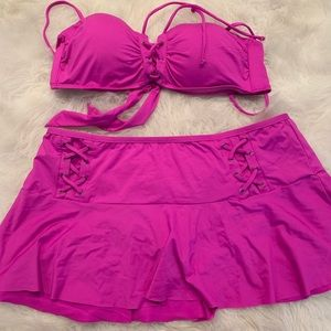 Kenneth Cole xl two piece swimsuit.